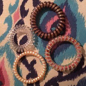 Lot of 4 spiral bracelets